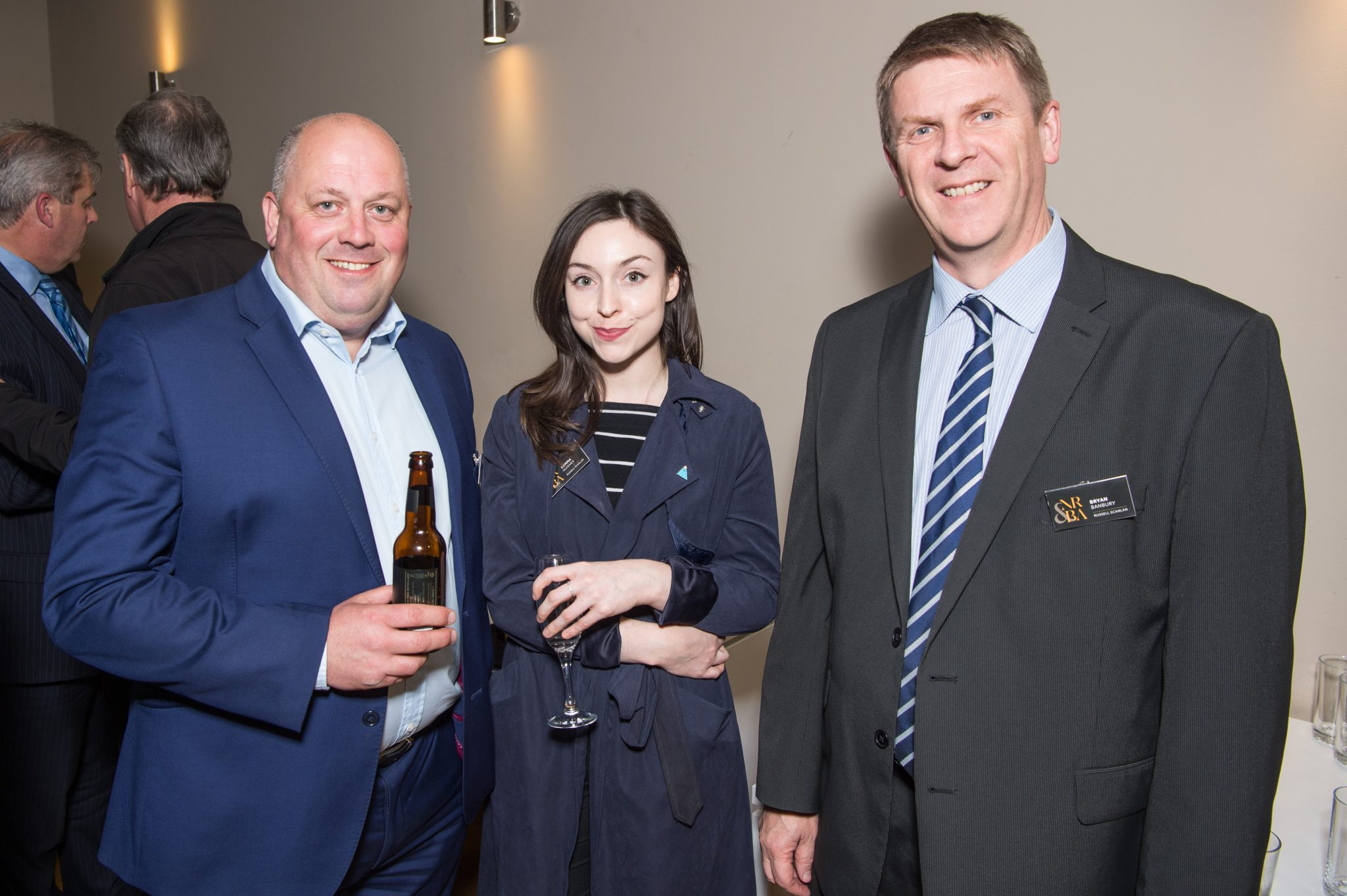 Russell Scanlan Proud Sponsors of New Nottingham Restaurant and Bar Awards - Mike-Dickinson Gemma Hughes and Bryan Banbury