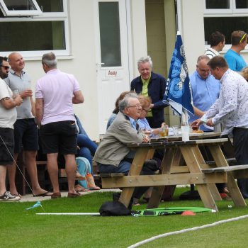 Attenborough Cricket Club people drinking outside