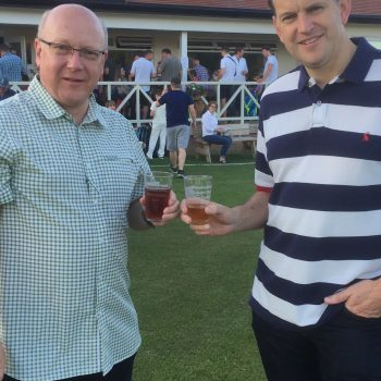 Attenborough Cricket Club beer festival on pitch
