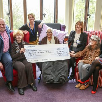 Nottinghamshire Hospice Russell Scanlan Cheque Presentation